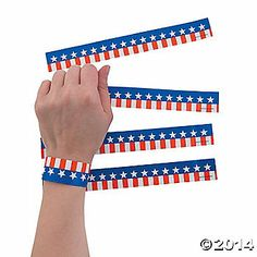 Patriotic Printed Wristbands