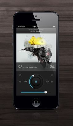 Shimmer Music Player ui-app-interface