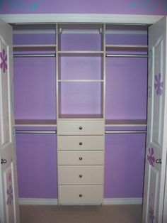 Ideas little girls closet organization diy storage for 2019 Shared Closet, Kid Closet, Closet Redo, Closet Space, Closet Dividers, Attic Closet, Closet Remodel, Bedroom Closet Design, Closet Designs
