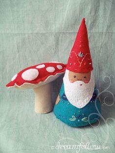 felt embroidered stuffed NŌM gnome - TOYS b45b5639d7d1