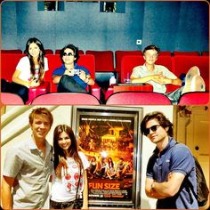 Inside the screening room & chillin' by the poster with the 2 Thomas's :{). Who's excited to see Fun Size?!