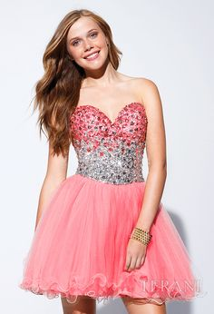 Short Beaded Cocktail Dress 2014 by Terani Prom Dress 2013, Strapless Prom Dresses, Cheap Homecoming Dresses, Prom Dress Shopping, Dresses 2013, Dance Dresses, Short Dresses, Formal Dresses, Terani Dresses