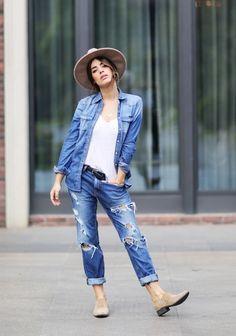 como copiar look jeans com jeans da blogueira dulceida