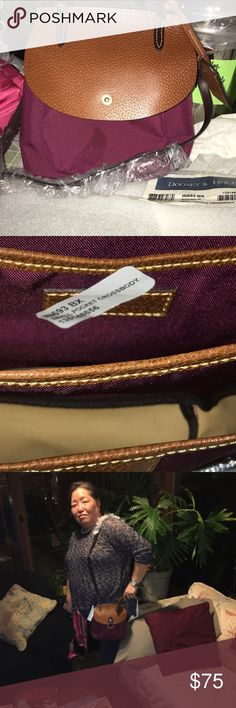 Small  cross body Dooney & Burke Bordeaux color Small  cross body Dooney & Burke Bordeaux color.  Never used. Excellent condition Dooney & Bourke Bags Crossbody Bags