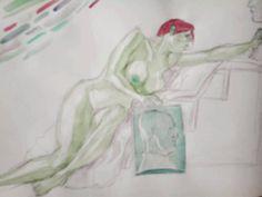 Another #nude hooray!  #drawing #watercolor #doodle #model...
