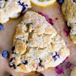 This Lemon Blueberry Scones recipe is a delightful addition to any breakfast or brunch Fresh blueberries and loads of lemon zest add an irresistible freshness to these ea. Blueberry Scones Recipe, Blueberry Recipes, Lemon Recipes, Sweet Recipes, Real Food Recipes, Baking Recipes, Yummy Food, Baking Desserts, Homemade Desserts
