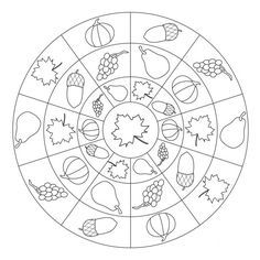 Autumn mandala coloring pages Fall Coloring Pages, Pattern Coloring Pages, Mandala Coloring Pages, Coloring Books, Autumn Activities For Kids, Fall Crafts For Kids, Kids Crafts, Autumn Crafts, Autumn Art