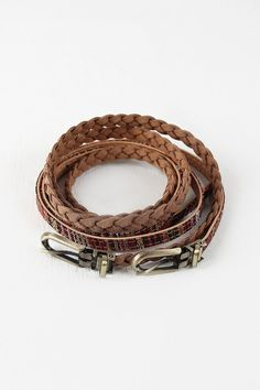 Braid And Multi Stripe Belt Set – Style Lavish