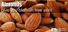 Almond has natural fatty acids and nutrients that can moisturize the skin very well & nourish it, removing any traces of skin pigmentation. Be sure to include them in your diet as well as apply it regularly to your face for blemish free skin! To know more about your skin, Visit drpaulsonline.com