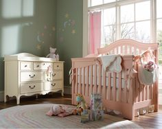 Beautiful nursery, love the combo of furniture finishes