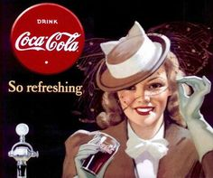 Vintage Coca-Cola ad - So refreshing Coca Cola Poster, Coca Cola Ad, Always Coca Cola, World Of Coca Cola, Vintage Advertisements, Vintage Ads, Vintage Posters, Coca Cola Vintage, Coke Ad