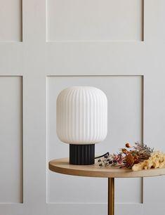 Lolly Black Opal Glass Table Lamp - Short