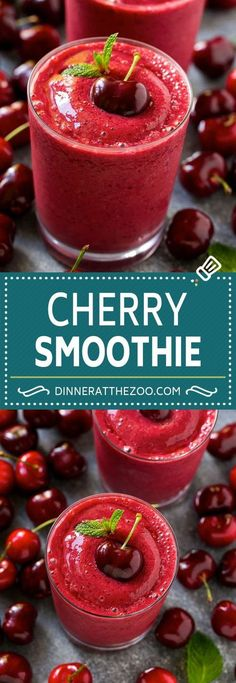 Splendid Smoothie Recipes for a Healthy and Delicious Meal Ideas. Amazing Smoothie Recipes for a Healthy and Delicious Meal Ideas. Cherry Smoothie, Juice Smoothie, Smoothie Drinks, Dinner Smoothie, Frozen Fruit Smoothie, Smoothie Bowl, Yummy Drinks, Healthy Drinks, Smoothie Recipes