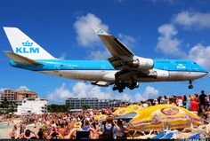 KLM - Royal Dutch Airlines Boeing 747-406 Philipsburg / St. Maarten - Princess Juliana (SXM / TNCM) St. Maarten, February 4, 2014