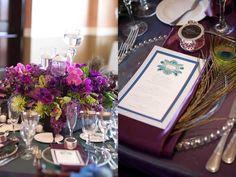 peacock-feather-wedding-theme-san-diego-beach-wedding-invitation-menu-custom-papergoods