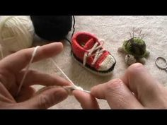 tutorial scarpine all star all'uncinetto - YouTube