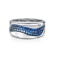 Spirit White Gold & Sapphire Ring