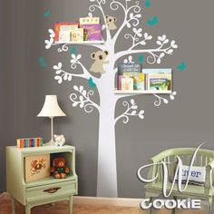 Home Decor Impartial Naughty Cat Swinging Green Tree Rattan Wall Stickers Childrens Room Living Room Creative Pet Alphabet Clear Decals For Home