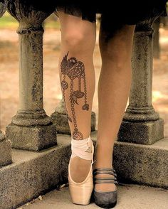 Steampunk heart, cogs & gears tattoo printed tights & pantyhose: your temporary & fake tattoo stickers alternative. Designed & hand-made in Ireland Gear Tattoo, Tattoo Tights, Wolford Tights, Sheer Tights, Steampunk Tattoo Design, Steampunk Heart, Cotton Gloves, Top Band, Fake Tattoos