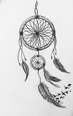 Image result for dreamcatcher drawing