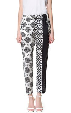 COMBINATION PRINTED PALAZZO PANTS - Stock clearance - Woman | ZARA United States