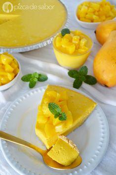 Mango Recipes, Mexican Food Recipes, Sweet Recipes, Cold Desserts, Asian Desserts, Coffee Dessert, Pie Dessert, Mango Chocolate, Chocolate Blanco