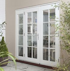 Jeldwen Georgian Wellington External French Doors Would be so beautiful off dining room to patio outside. Interior Sliding French Doors, French Doors Patio, Patio Doors, French Patio, French Doors With Sidelights, Windows And Doors, External French Doors, Build Your House, Interior Design Elements