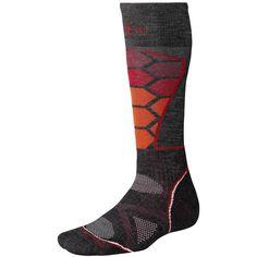 SmartWool PhD Ski Socks - Merino Wool (For Men and Women) in Charcoal