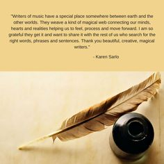 Writers of music have a special place somewhere between earth and the other worlds. They weave a kind of magical web connecting our minds, hearts and . Writers, Mindfulness, How To Get, Authors, Consciousness, Writer