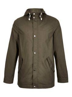 KHAKI LIGHTWEIGHT BACK PRINT PARKA coat