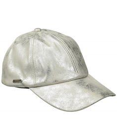 0429bdb0b1541 Women s Metallic Faux Leather Baseball Cap Silver CK1825NLR96. Shop Caps