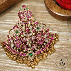 - Pendants - The Amethyst Silver Jewels Amrapali Jewellery, Gold Jhumka Earrings, Gold Earrings Designs, Mughal Jewelry, Gold Designs, Antique Jewellery Designs, Gold Jewellery Design, Gold Jewelry, Wedding Jewellery Inspiration