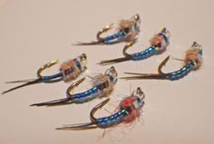 Rainbow-Warrior-Midge-UV-Ice-Blue-Fly-Fishing-Flies-Trout-Flies-New-2015
