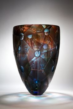 Kevin Gordon ~ 'Network' art glass vase