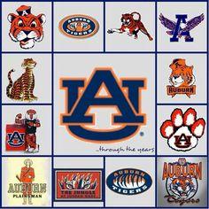 AU through the years. My favorite is the top left Aubie Sec Football, Auburn Football, Auburn Tigers, College Football, Alabama Football, Football Season, Creative Arts And Crafts, Fun Crafts, Auburn Logo