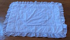 Vintage white Lambs & Ivy Eyelet Lace Baby Quilt https://www.etsy.com/shop/AmeliaBabble