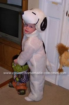 Snoopy Halloween Costume: When my 4 kids wanted to be the Peanuts gang for Halloween, your site was the first place I hit - and got great ideas for paper mache heads for the 3 older