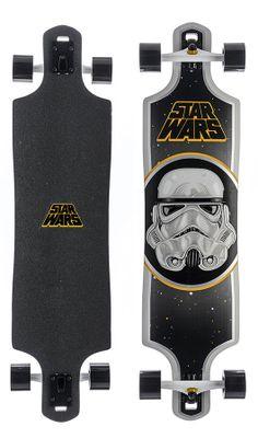 "Santa Cruz Star Wars Stormtrooper Cruzer 40"" LTD Complete Longboard - Skate Shop > Completes > Longboard Completes"