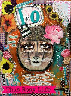 Leo kunst Leo afdrukken dierenriem kunst van ThisRosyLife op Etsy