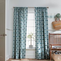 I love our new curtains! Threshold™ Farrah Fretwork Window Panel