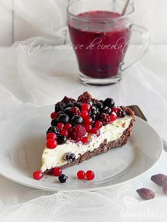 White chocolate mousse tart  - Romanian Recipe
