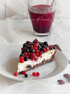 White chocolate mousse tart  - Romanian Recipe