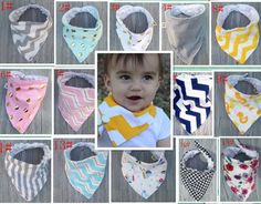 Cute 5pc Bandana Bibs  #boy #baby #cute #freeshipping #babyclothes #shopping #cutie #mom #kids #girl