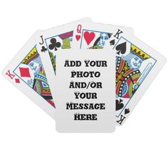 Bicycle Brand Personalize Customizable Deck of Playing Cards    zazzle.com/CapeCodGiftShop