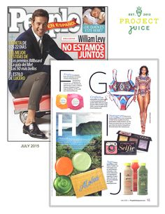 People EnEspanol highlighted our cold-pressed, organic juices in a recent issue.