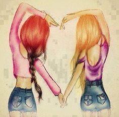 con una amiga te podes querer pero con tu amor eterno te podes amar , pelear con tu amiga , te podes pelear , quererte , hablar , jugar , y con tu novio vos vas a hacer amorosaa por q amas a esa persona que tanto amas o queres con todo tu corazon