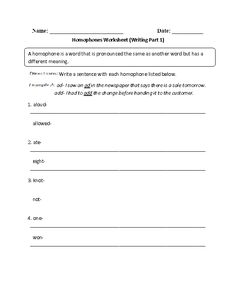 Worksheets Beasley And Homophones worksheets and english on pinterest writing homophones worksheet