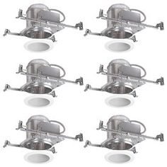 Halo White 6-in New Construction Recessed Lighting Kit