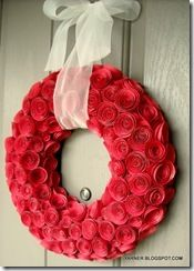 Stunning wreath made with paper flowers.  I totally want to make this!