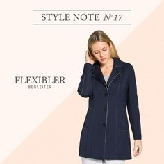 BUGATTI AUTUMN/WINTER 2016 I With this waisted short coat from our FLEXCITY series you will experience a pleasant wearing comfort. Open edges add accents and give this marine blue coat a modern twist. So the sporty and elegant city look is finished! #bugattifashion #flexcity #newseason #womenswear #bugattistyle